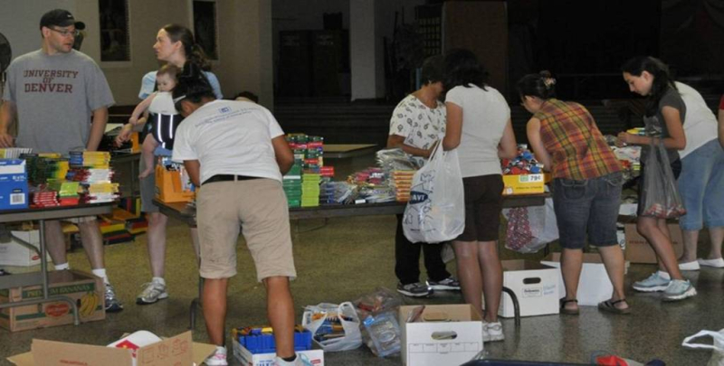 St. Vincent de Paul Food Drive Sorting