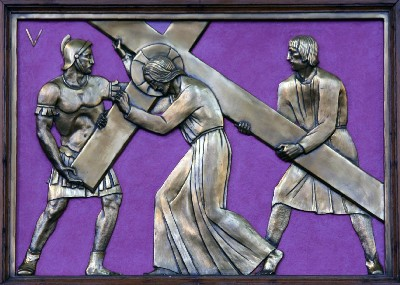 Fifth Station of the Cross, Queen of Angels Church