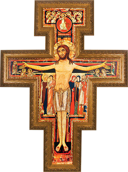 San Damiano Cross, which spoke to St Francis and asked him to rebuild the Church