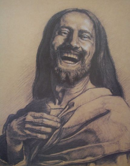 Artwork of the Laughing Christ